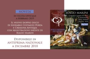 I madrigali inediti<br/>di Biagio Marini<br/>Presentazione nuovo disco