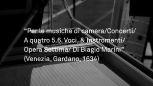 I Madrigali inediti di Biagio Marini – Foto Backstage